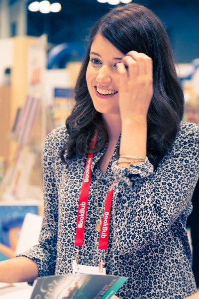 Alexandra Bracken smiling at BookExpo America