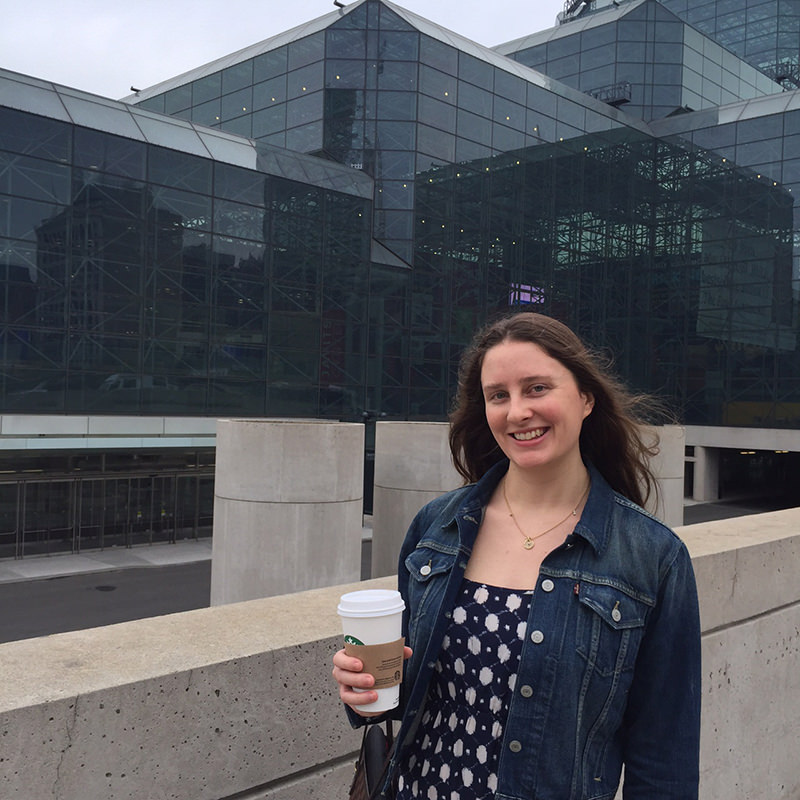 Me standing in front of the Javits Centre before Blogger Con
