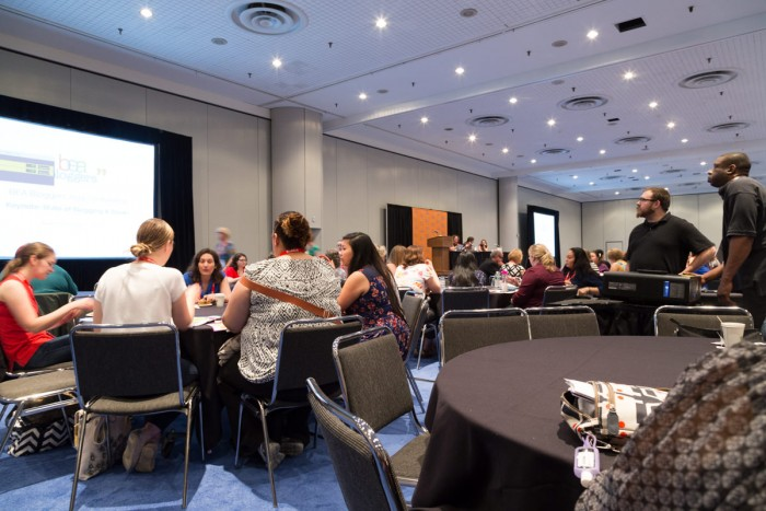 The main room at BEA Blogger Con