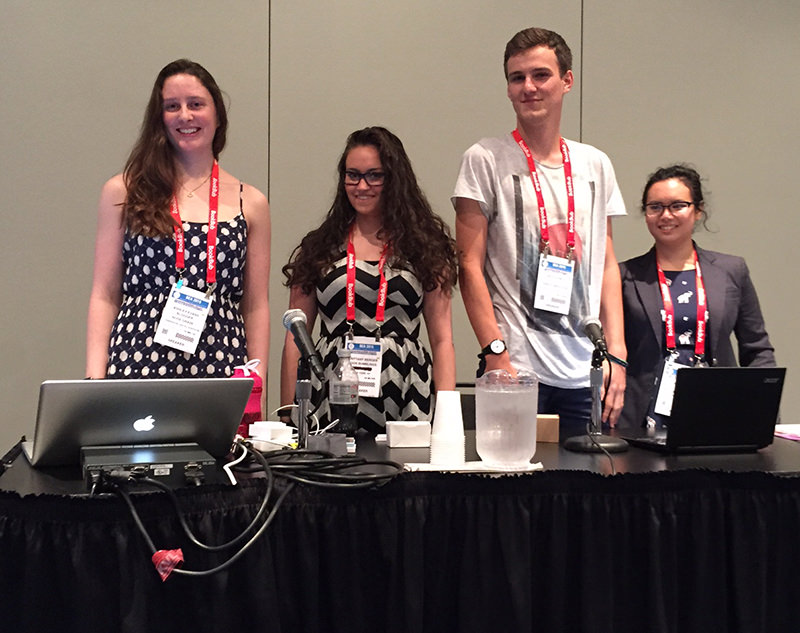 Me and the three other speakers at the BEA Blogger Con panel for Optimizing Your WordPress Blog