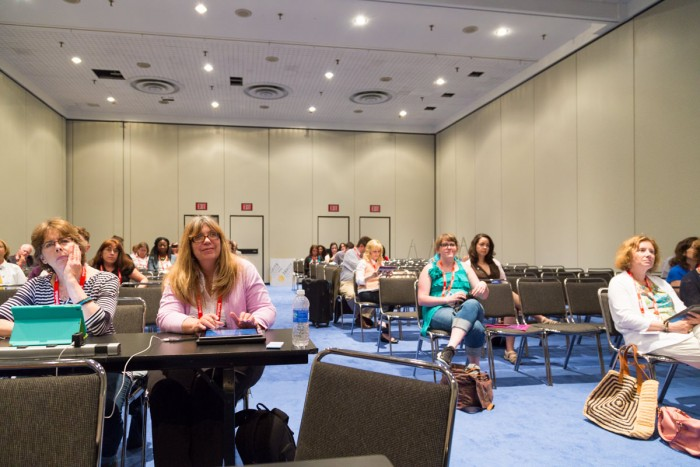 The audience at one of the Blogger Con panels