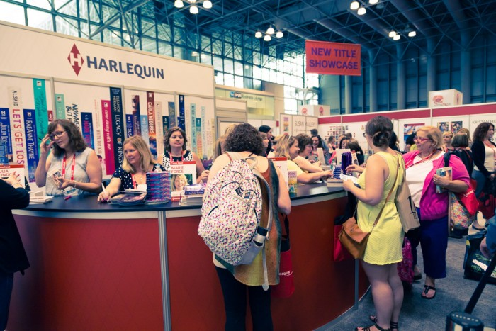 Harlequin booth at BEA