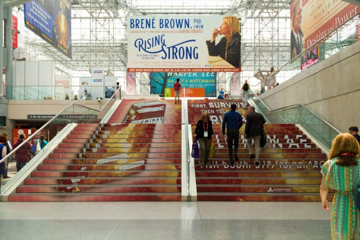 Illuminae staircase at BookExpo America