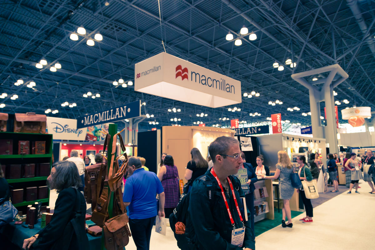 Macmillan's booth at BEA