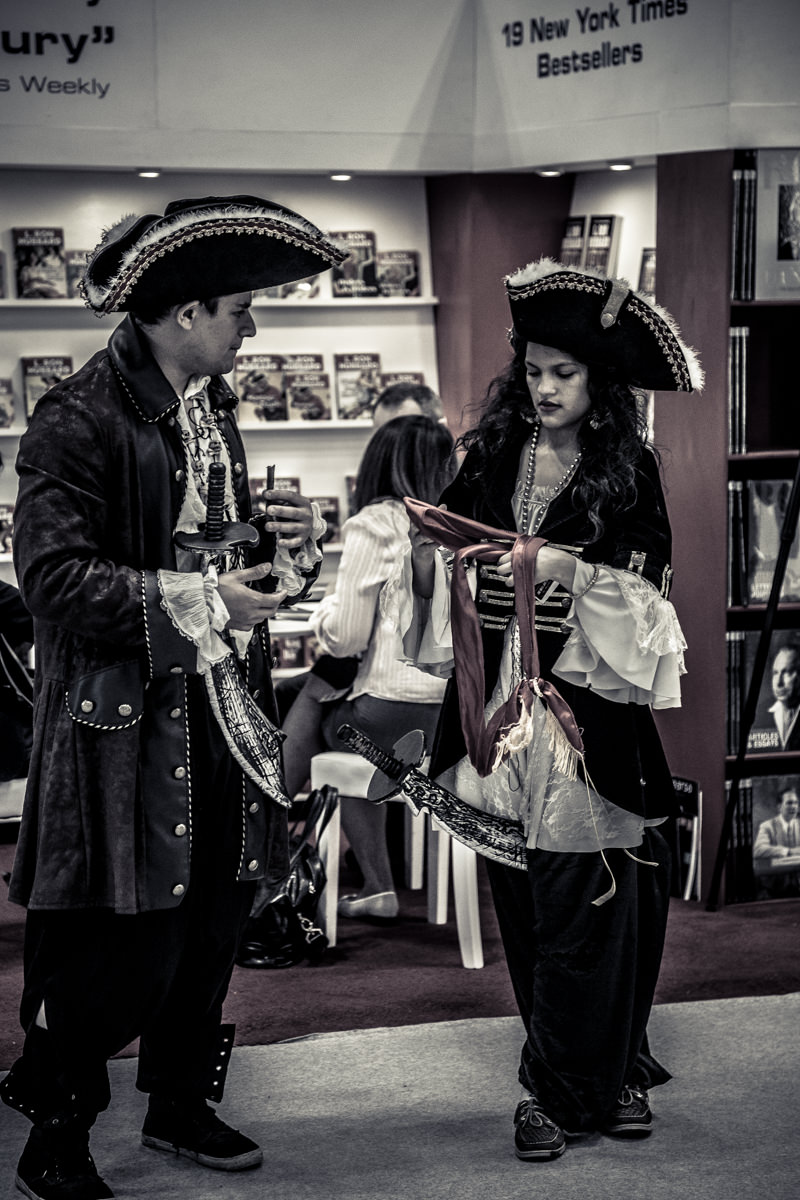 Two people dressed as pirates at BookExpo America