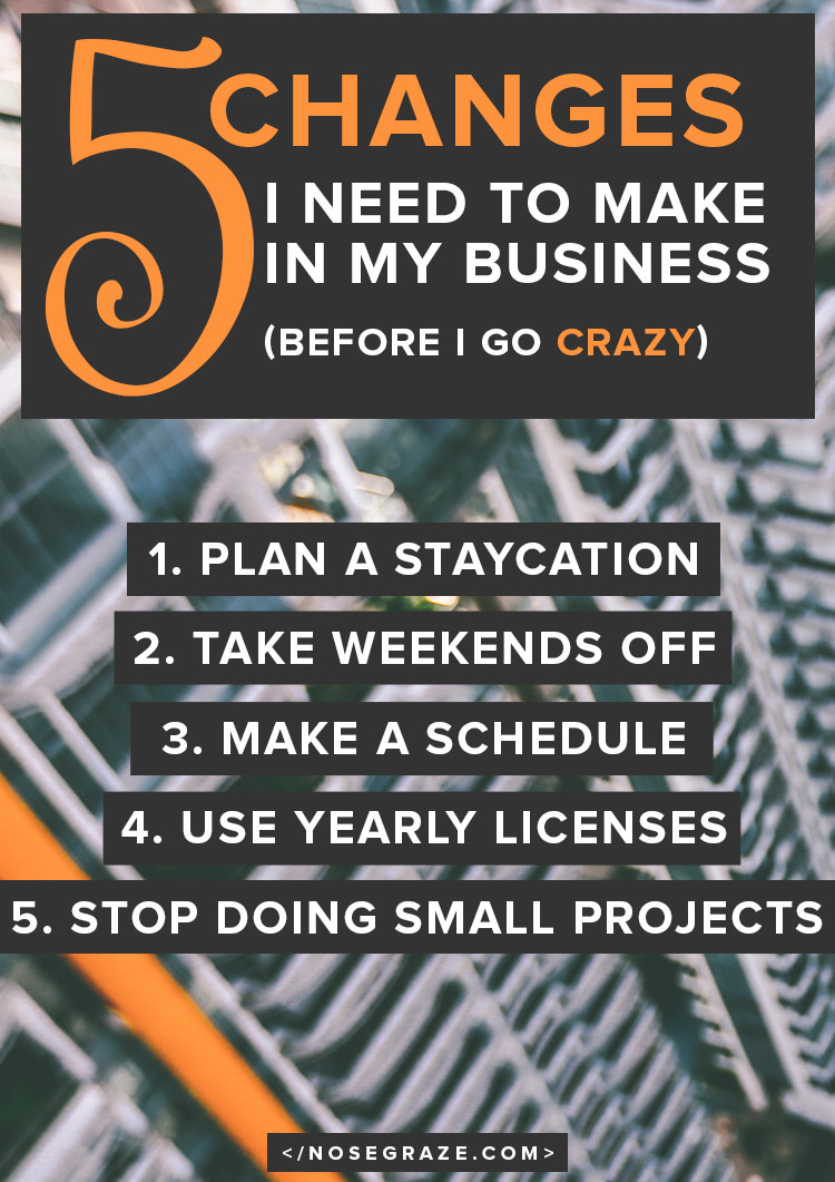 5 changes I need to make in my business (before I go crazy!)