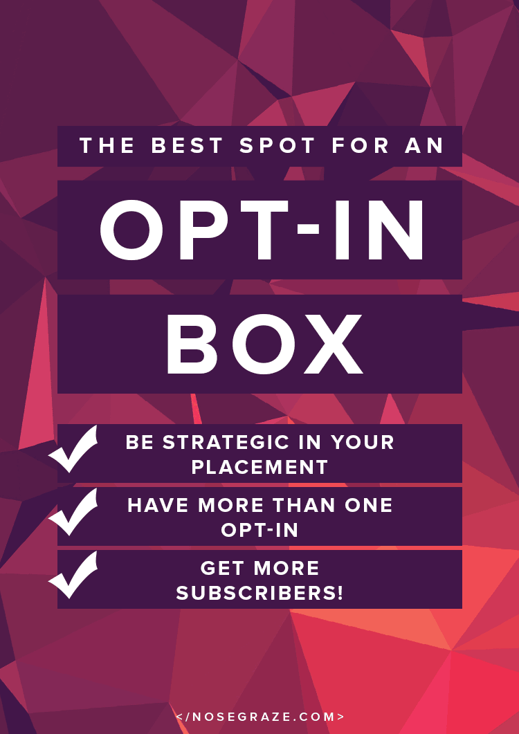 The best spot for an opt-in box to get more subscribers