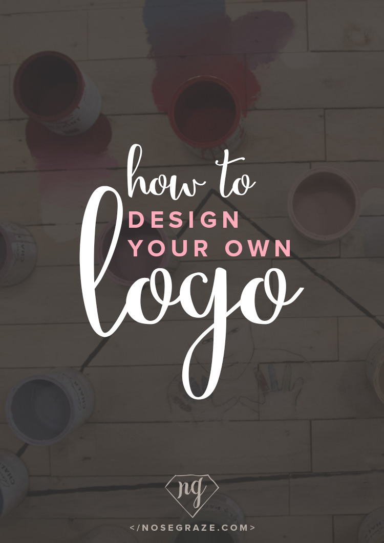 How to design your own logo nose graze for Online designs