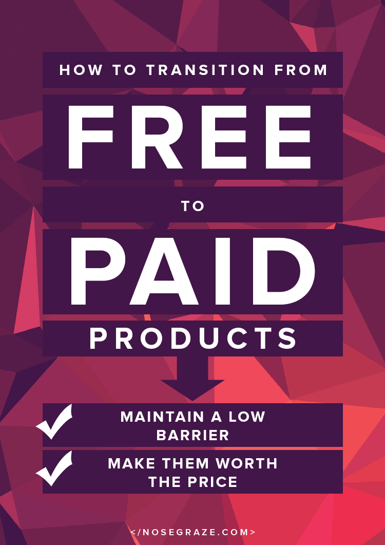 How to transition from free to paid products: maintain a low barrier and make them worth the price