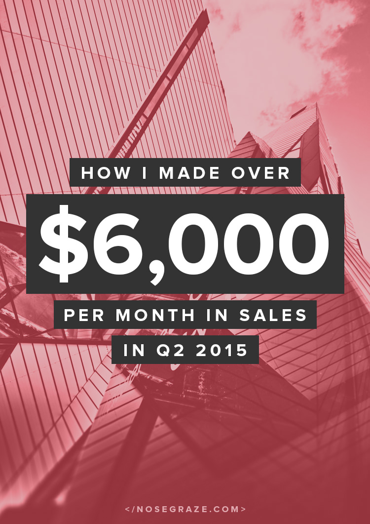 How I made over $6,000 per month in sales in Q2 2015