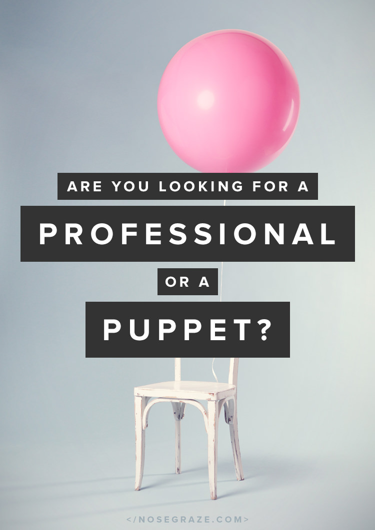 are you looking for a professional or a puppet nose graze as a client what are you looking for