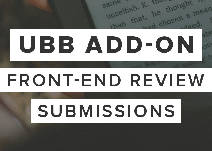 UBB Add-On: Front-End Review Submissions