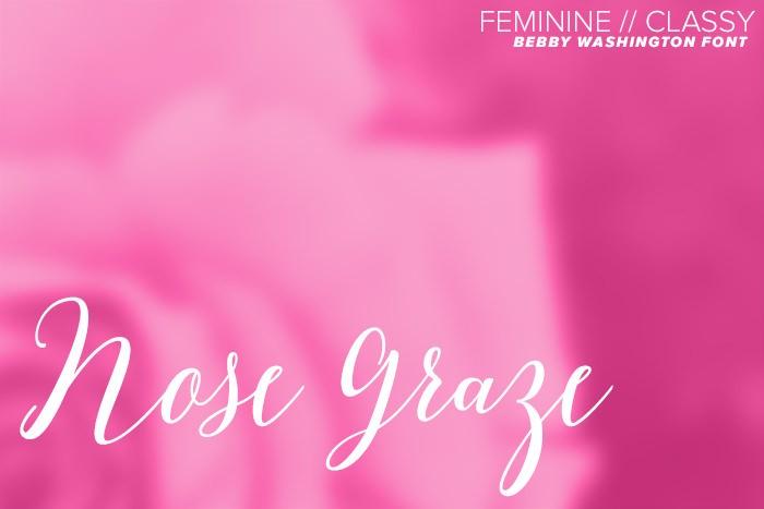Bebby Washington font - Feminine and classy