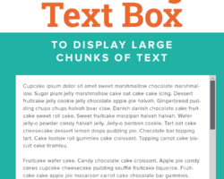 How to Create a Scrolling Text Box for Large Chunks of Text