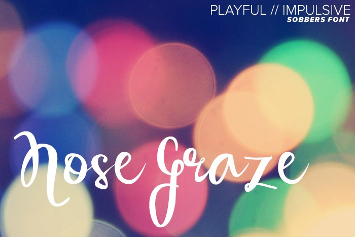 Sobbers font - playful and impulsive