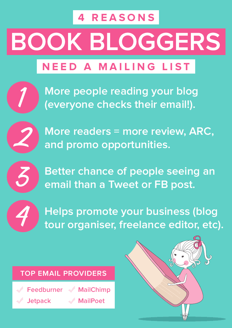 4 reasons book bloggers need a mailing list to help grow their blog and start a business
