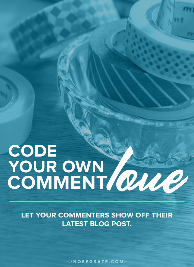 Code your own Comment Love in WordPress. Let your commenters show off their latest blog post.