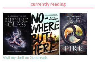 Currently reading shelf on Goodreads - showing only book covers