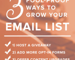 I Challenge You to Build  Your Email List