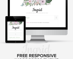 Free, Feminine, Flowery WordPress Theme Up for Grabs!