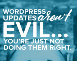 WordPress Updates Aren't Inherently Evil