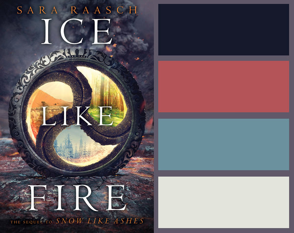 Colour palette for Ice Like Fire by Sara Raasch