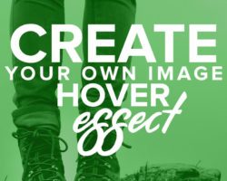 Create an Image Hover Effect with Text in WordPress