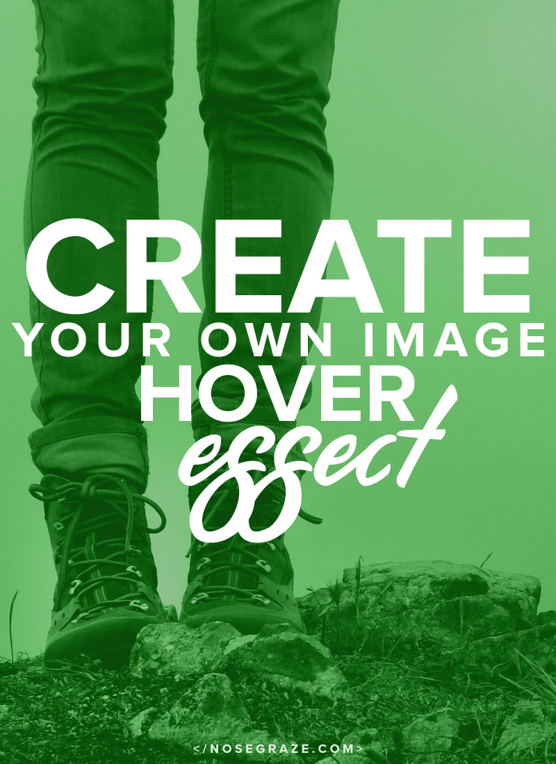 Create your own image hover effect