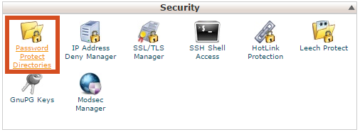 Password Protect Directories in cPanel