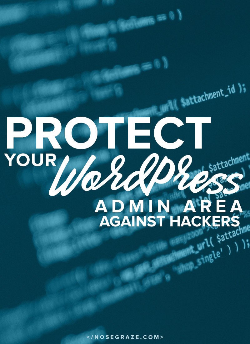 Protect your WordPress admin area against hackers