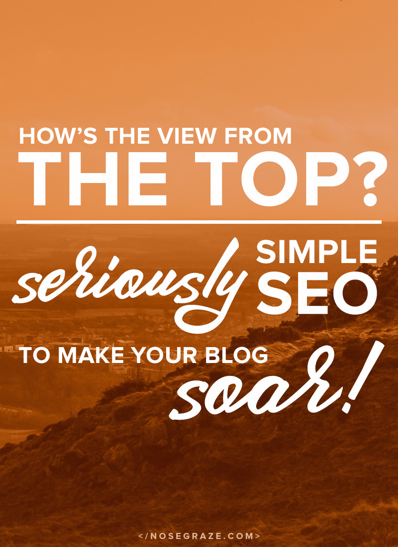 How's the view from the top? -- Seriously simple SEO to make your blog soar!
