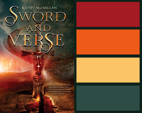 Colour palette for Sword and Verse by Kathy MacMillan