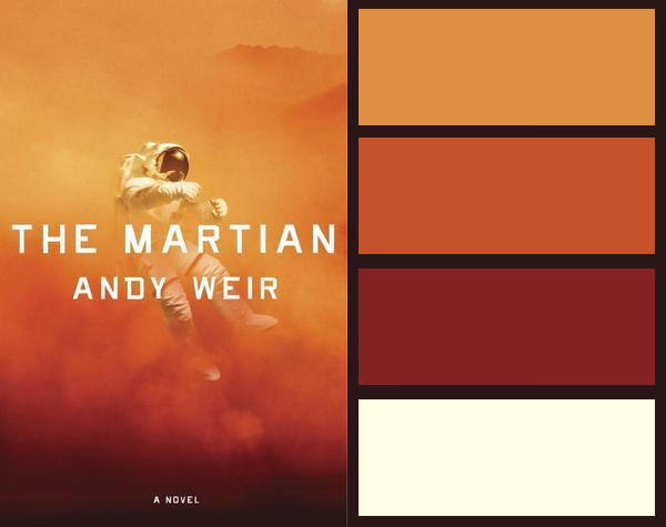 Colour palette for The Martian by Andy Weir