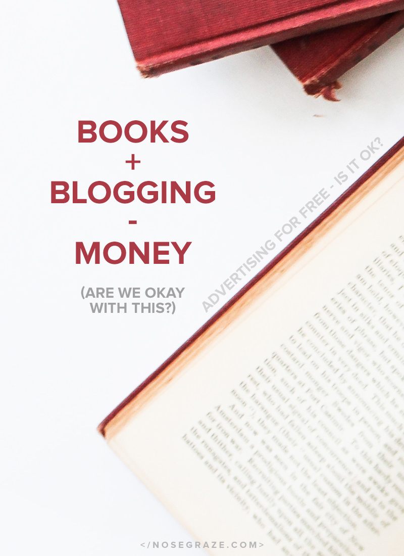 Are book bloggers okay with advertising for free?