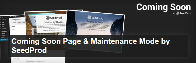 Coming Soon Page & Maintenance Mode plugin by SeedProd