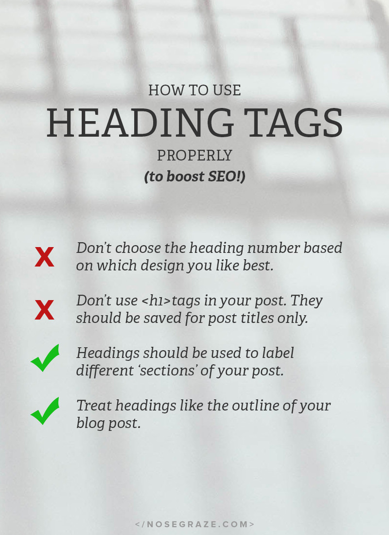 How to use heading tags properly to boost SEO.