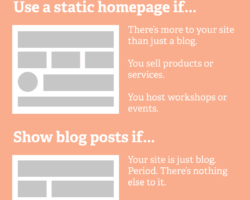 When to Set Up a Static Homepage on Your Website (and when not to)