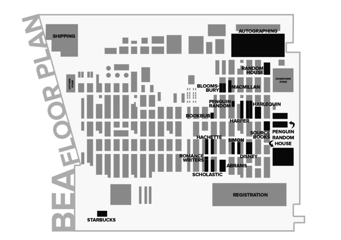BookExpo America 2016 floor plan