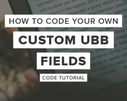 How to Create Your Own Custom UBB Plugin Field (Book Setting)