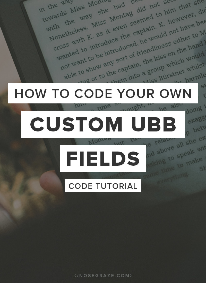How to code your own custom Ultimate Book Blogger fields (code tutorial)