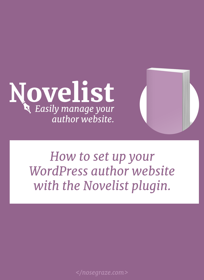 How to set up your WordPress author website with the Novelist plugin