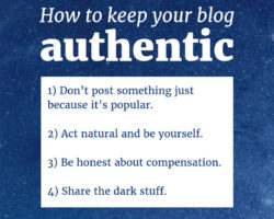 How to Keep Your Blog Authentic