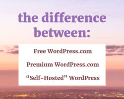 The Difference between WordPress.com, Premium, and Self Hosted