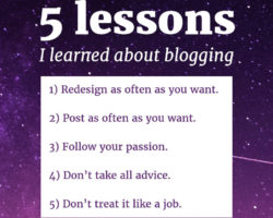 5 Blogging Lessons I'm Glad I Learned
