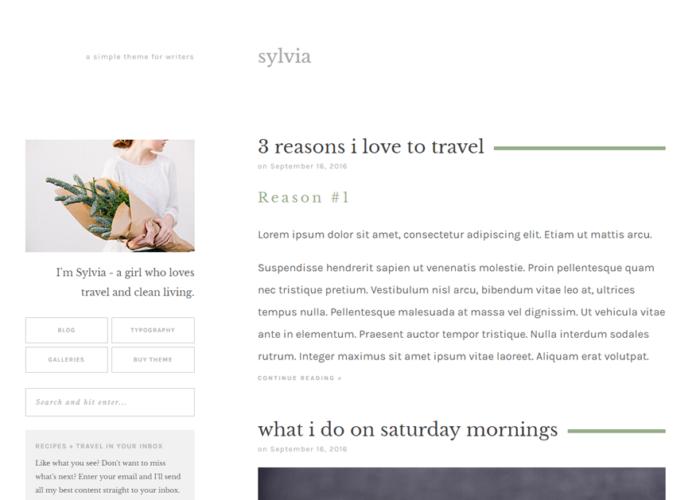 Sylvia theme