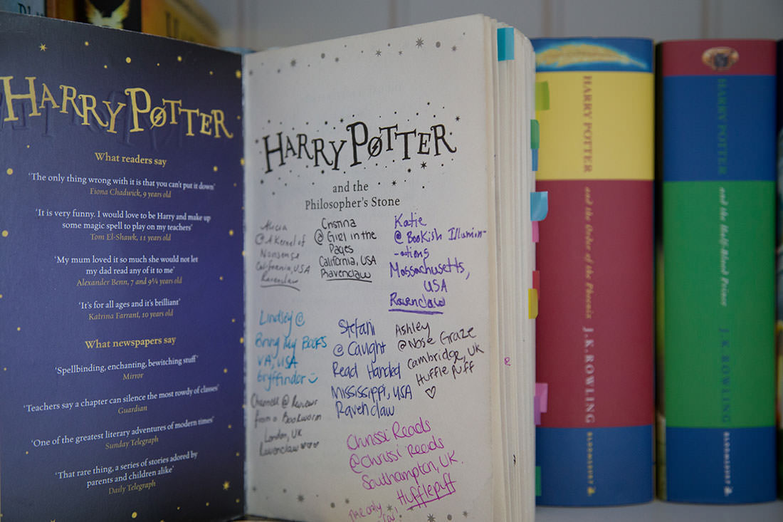 Names of the bloggers who annotated Harry Potter and the Philosopher's Stone