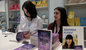 Amanda Foody signing ARCs of Daughter of the Burning City