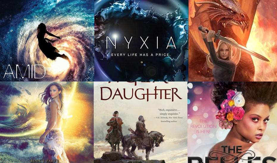 Six books I didn't finish: Amid Stars and Darkness, Nyxia, Firebolt, Storm, The Tiger's Daughter, and The Belles