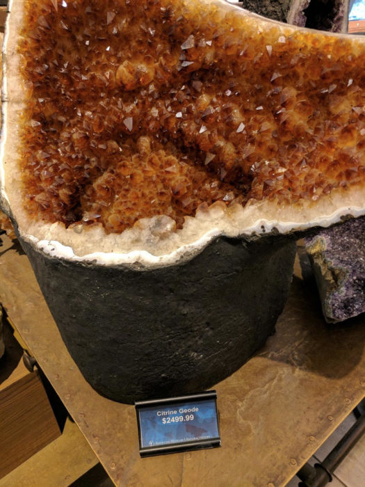 Expensive rock for sale at the NYC Natural History Museum
