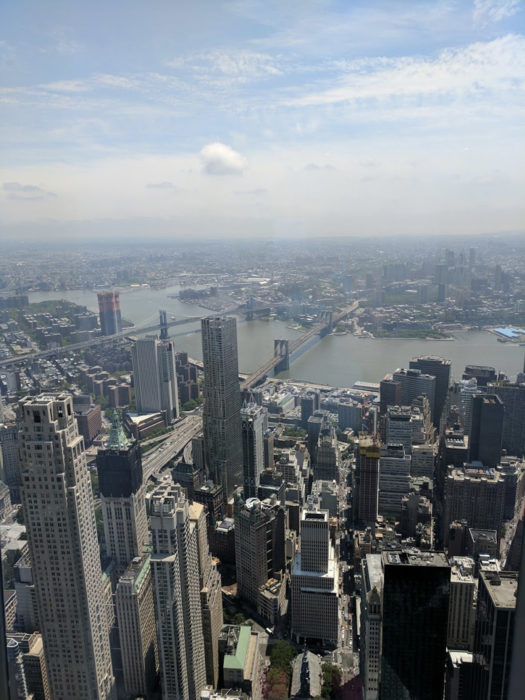 View from the top of the One World Trade Center observatory